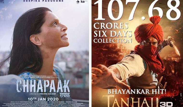 'Chhapaak' loses out to 'Tanhaji' in the box office