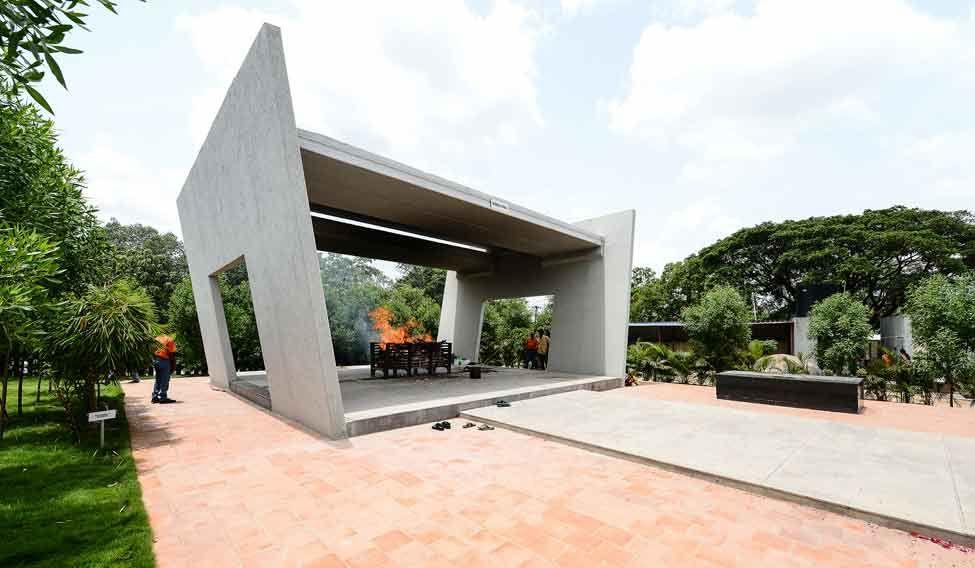 Hi-tech crematorium with a view