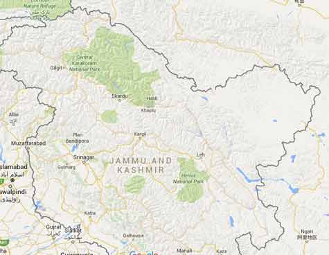 5.8 earthquake jolts Jammu and Kashmir