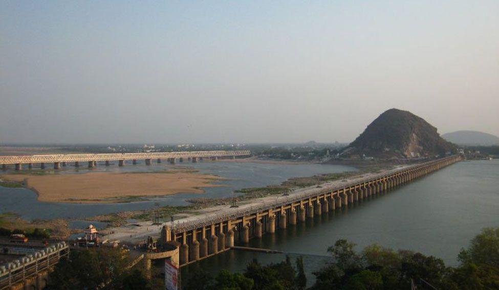 Krishna river at Vijayawada
