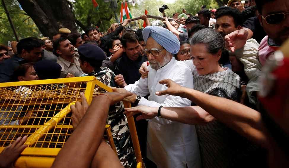 Sonia-Manmohan-Protest