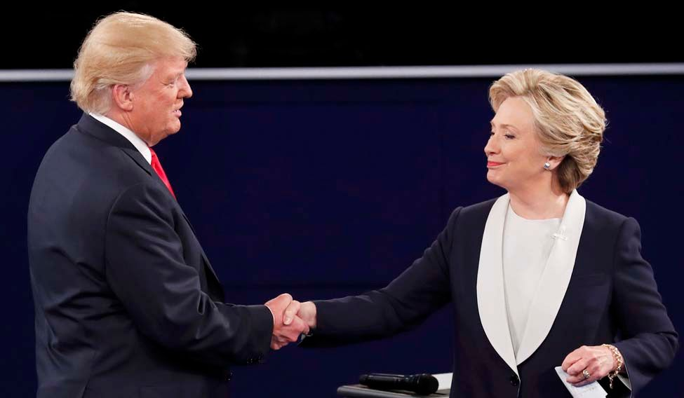 'US presidential election public display of self-doubt'