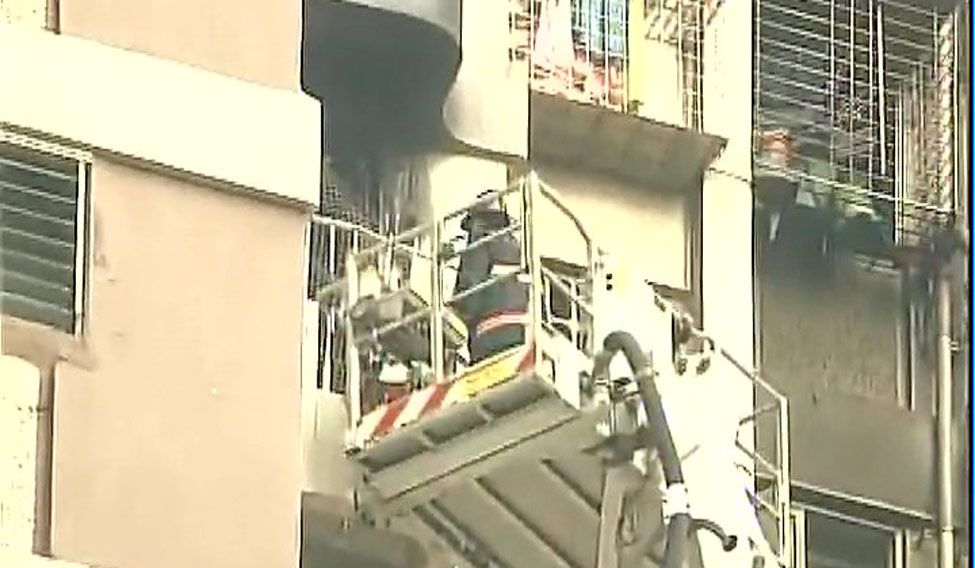 Fire broke out in Maker Tower in South Mumbai
