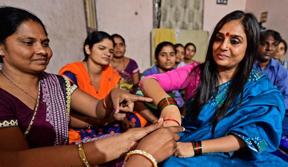 Armed with 'bangles', this woman is waging an all-out war against BJP