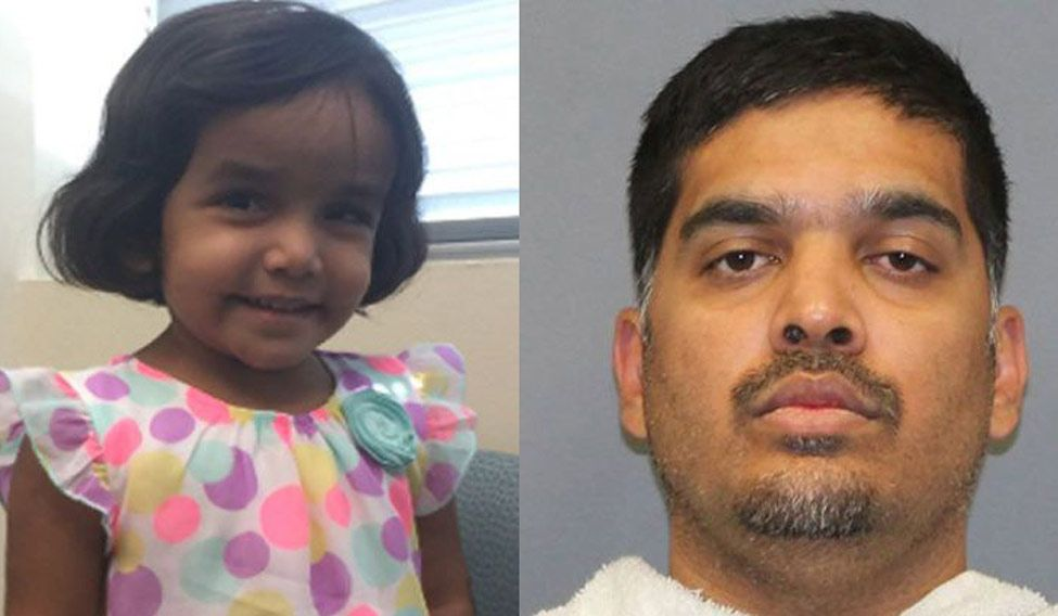 Indian girl Sherin Mathew's foster father charged with her murder in US