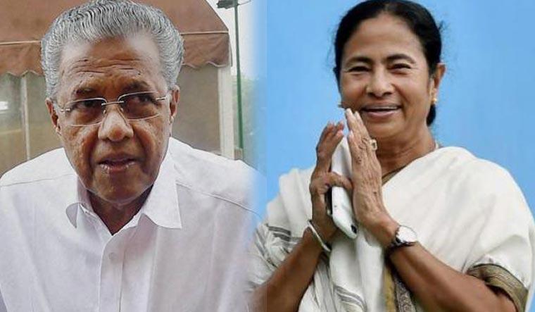 Kerala Chief Minister Pinarayi Vijayan and his West Bengal counterpart Mamata Banerjee