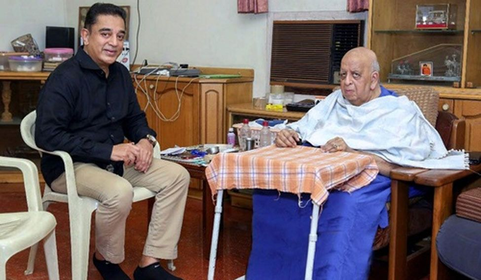 Kamal Haasan goes to meet Rajinikanth at his residence