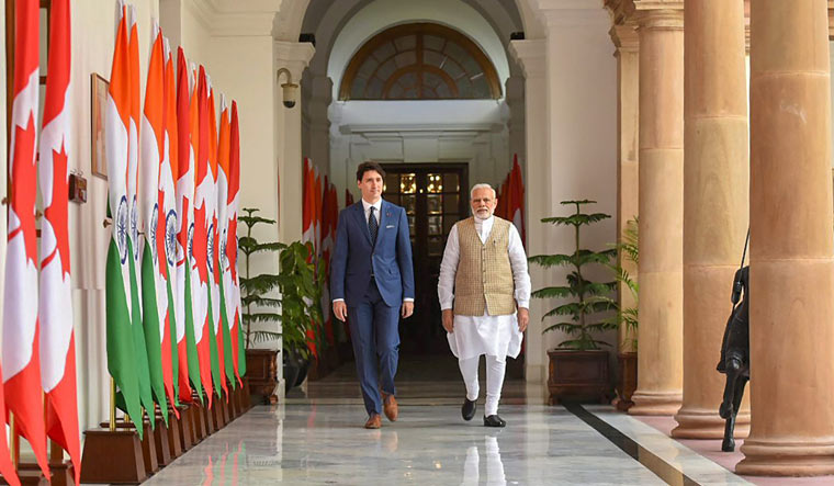 [File] Prime Minister Narendra Modi and Canadian Prime Minister Justin Trudeau   PTI