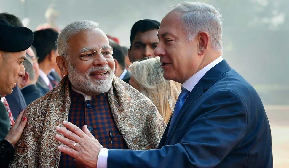 Modi welcomes Israel PM with iconic bear hug