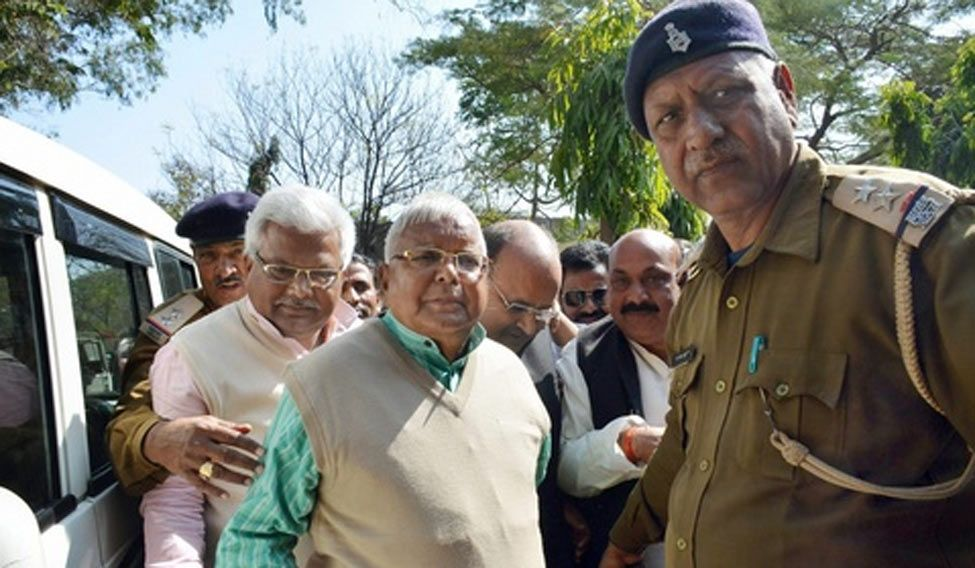 Lalu Prasad jailed for 5 years in fodder scam