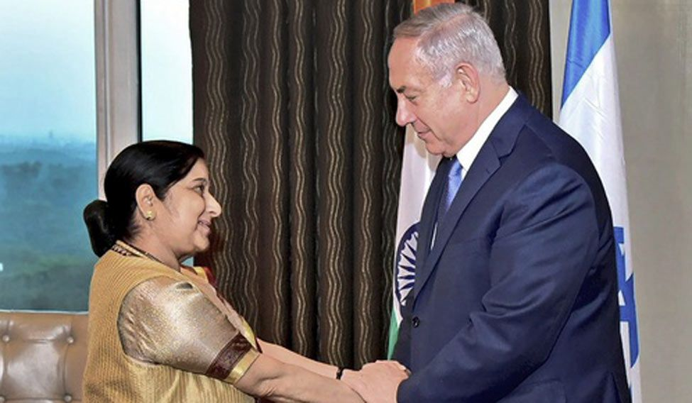 Narendra Modi welcomes Israeli PM Benjamin Netanyahu at start of India trip