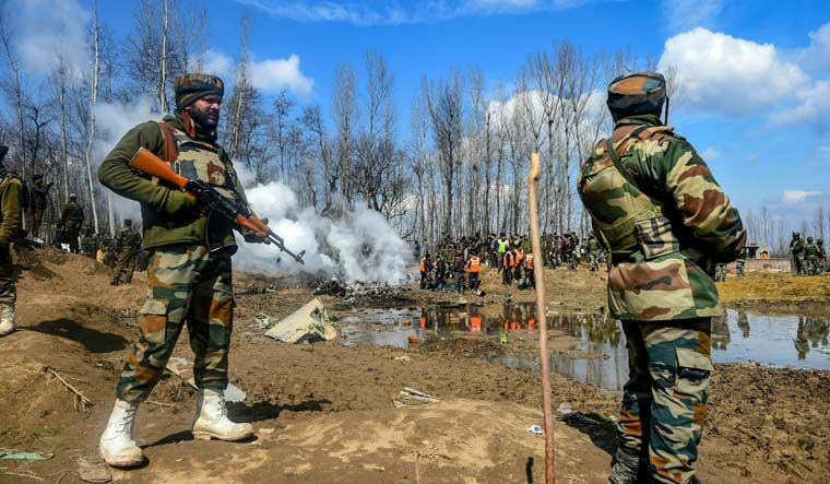 [File] A surface-to-air missile of the Indian Air Force brought down the Mi-17 aircraft in Budgam in the Kashmir Valley, killing six IAF personnel on board the chopper and a civilian on the ground | PTI