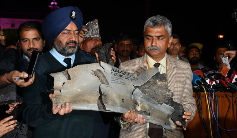MiG-21 Bison shoots down F-16 in Kashmir Parts-amraam-missile-arvindjain