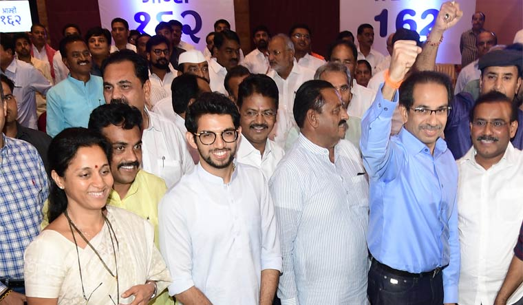 Supriya Sule, Aaditya Thackeray and Uddhav Thackeray at Grand Hyatt hotel | Amey S. Mansabdar