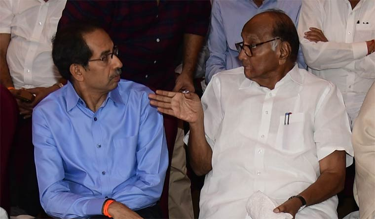 Uddhav Thackeray and Sharad Pawar | Amey S. Mansabdar