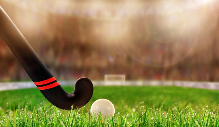field-hockey-stick-ball-on-grass-shut