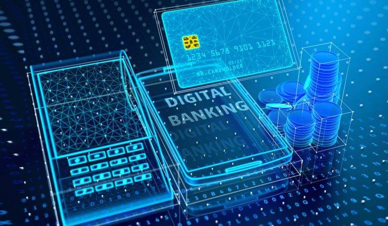 bank-modern-digital-banking-Credit-card-smartphone-POS-terminal-stack-of-coins-shut