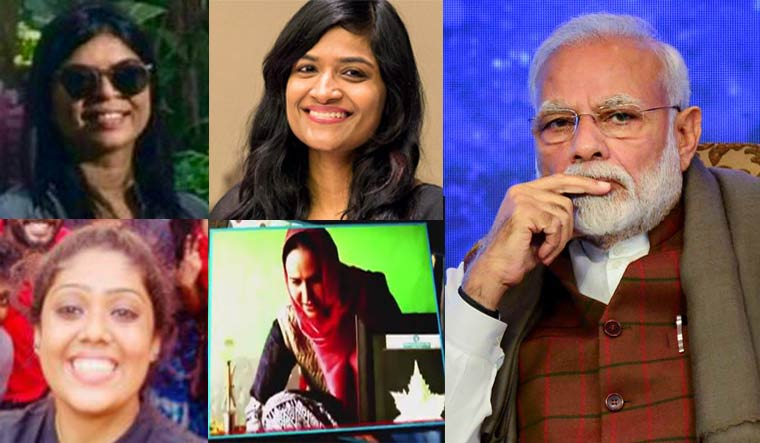 PM Modi handed over his Twitter and Facebook accounts to seven women, saying they have done great work in a wide range of sectors and their struggles and aspirations motivate millions.