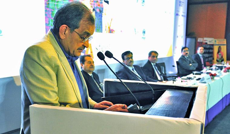 Union Minister of Steel Birender Singh speaking at the Steel Conclave in New Delhi | Aayush Goel