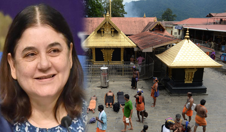 Maneka Gandhi had earlier welcomed the apex court judgment on Sabarimala