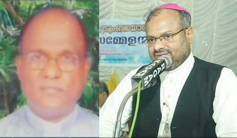 A combination picture of Fr Kuriakose Kattuthara and Bishop Franco Mulakkal | ManoramaOnline