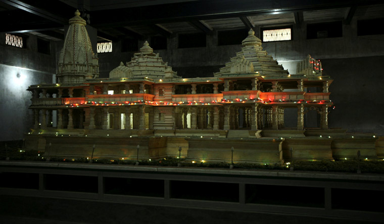 A model of a proposed Ram temple | Reuters