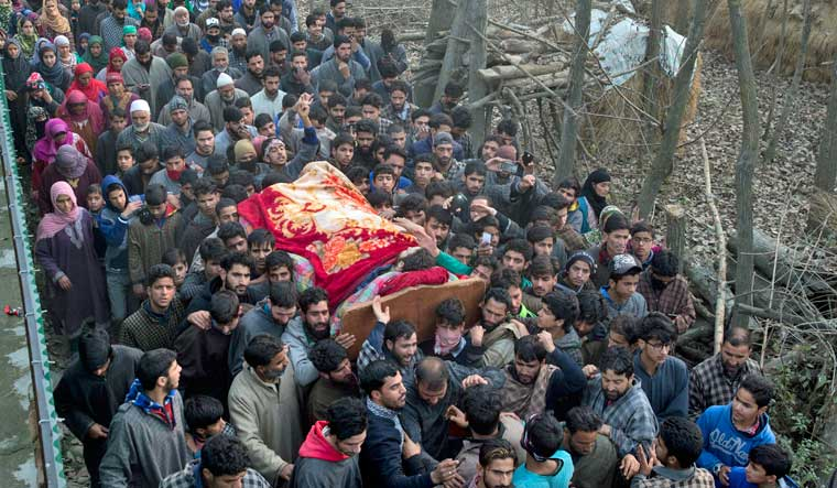 Six militants killed in J&K, including one wanted in Shujaat