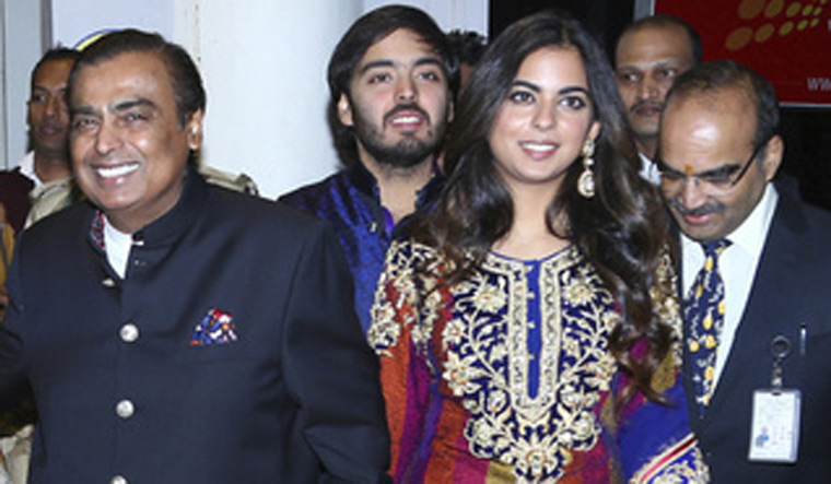 Mukesh Ambani with Isha
