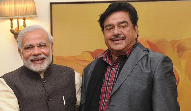Modi with Shatrughan Sinha