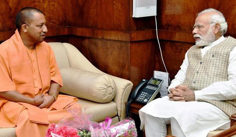 [File] Chief Minister Yogi Adityanath and Prime Minister Narendra Modi | PTI