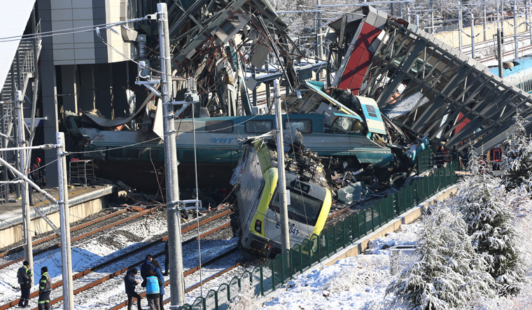 Turkey train crash leaves nine dead, dozens injured