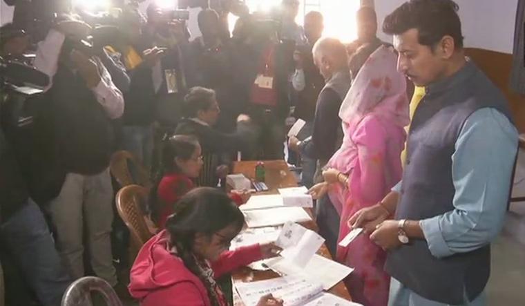 Rajyavardhan Rathore voting