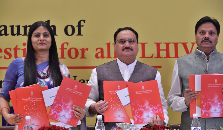 Minister for Health and Family Welfare, J.P. Nadda, release the National Guidelines for viral load testing for PLHIV | Sanjay Ahlawat