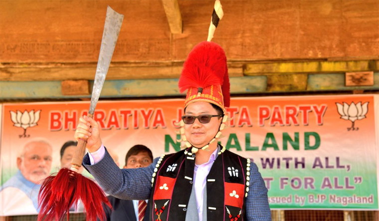 Nagaland NPF stakes claim to for ministry, Zeliang in Delhi