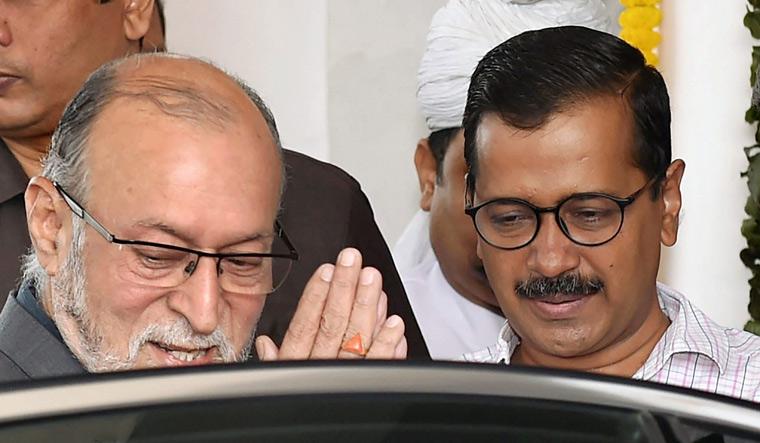 Baijal with Kejriwal