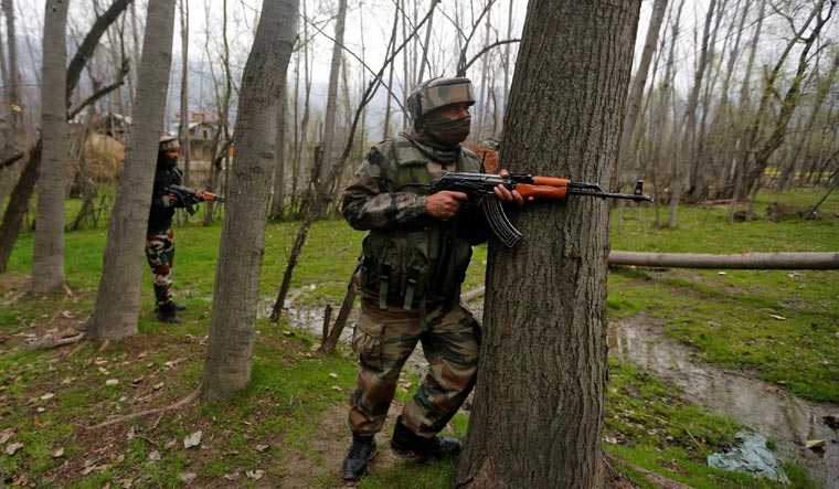 Four militants killed in encounter with security forces in J&K