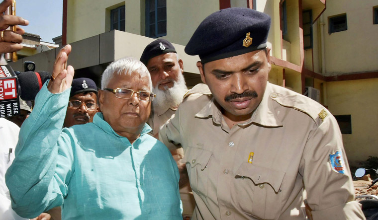 Nitish Kumar is finished, BJP has set Bihar ablaze, says Lalu Yadav
