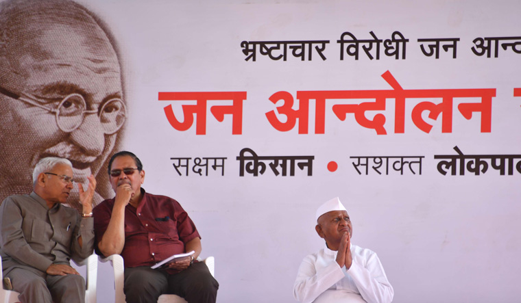 Anna Hazare begins indefinite hunger strike in Delhi's Ramlilla Maidan