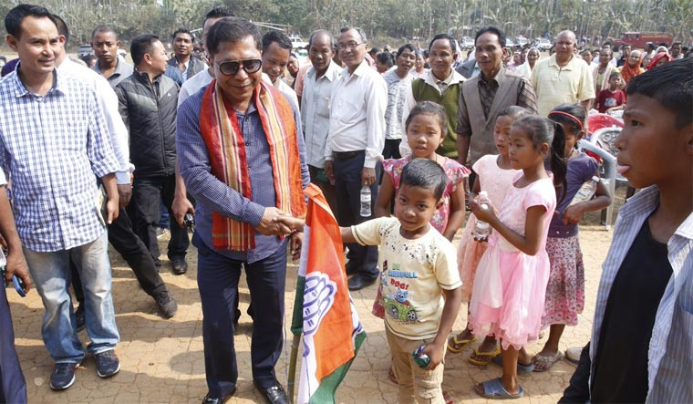 BJP, Cong reach 'kingmaker' UDP HQ at same time for Meghalaya support