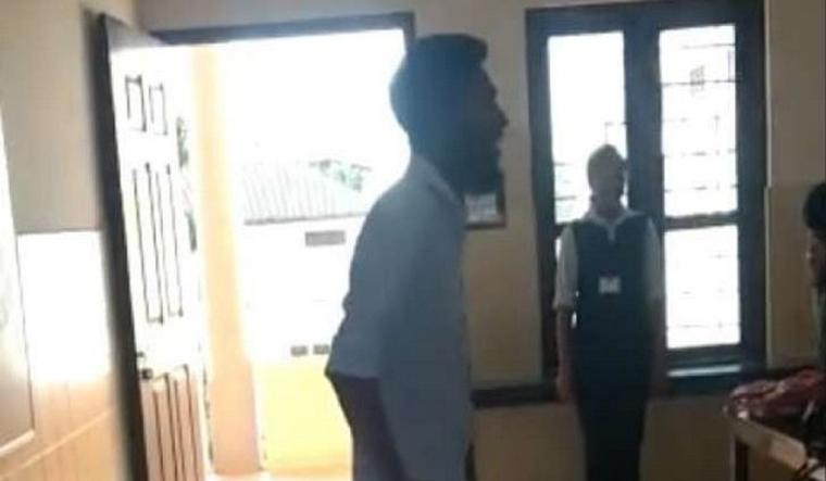 Student leader Kerala national anthem ANI