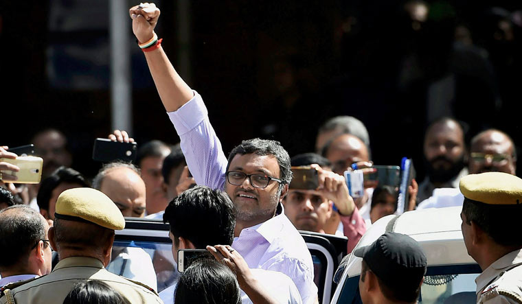 CBI extends Karti's custody, SC declines relief from ED
