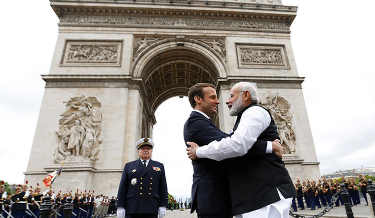 Emmanuel Macron takes dig at Donald Trump; hails efforts of India