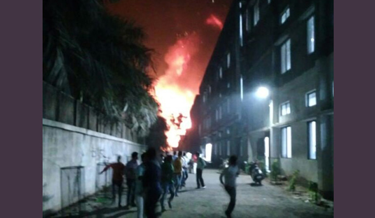 Palghar industrial estate fire ANI