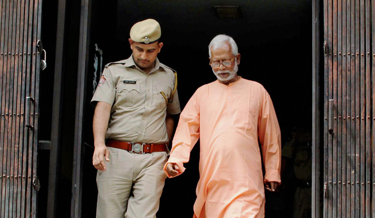 File photo of Mecca Masjid blast accused Swami Aseemanand who was acquitted by a special NIA court in Hyderabad | PTI