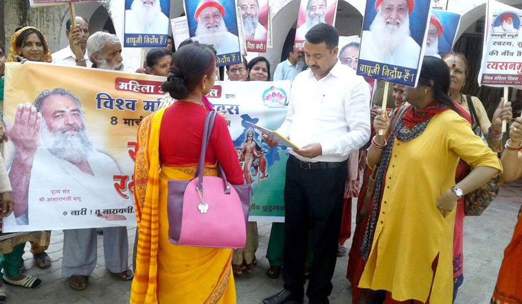 Asaram supporters on Women's Day