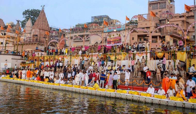Prayers for Ganga at Varanasi