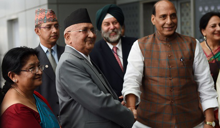 Nepal PM Oli arrives on three-day visit