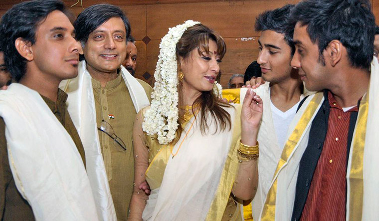 Shashi Tharoor named as accused in his wife's death