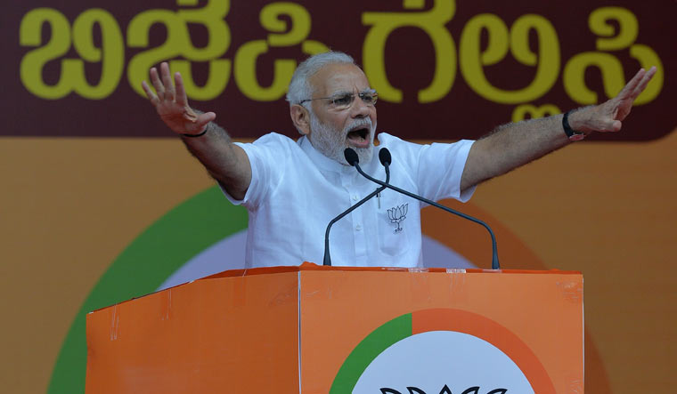 PM Modi lashes out at Congress, calls it 'contract' party