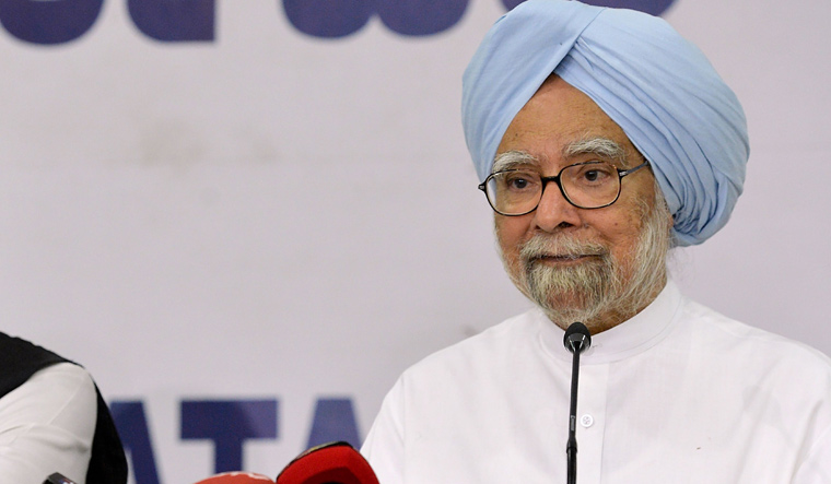 Sad state of affairs in the wonderland of Modi govt: Manmohan Singh